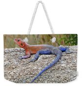 African Safari Lizard Weekender Tote Bag