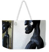African Statue Reflection Weekender Tote Bag