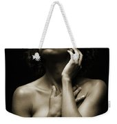 Chynna African American Nude Girl In Sexy Sensual Photograph And In Black And White Sepia 4789.01 Weekender Tote Bag