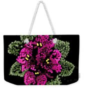African Violets Bedazzled Weekender Tote Bag