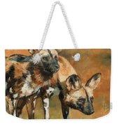 African Wild Dogs Weekender Tote Bag