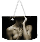 Chynna African American Nude Girl In Sexy Sensual Photograph And In Black And White Sepia 4782.01 Weekender Tote Bag