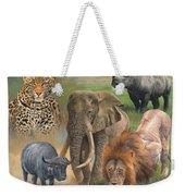 Africa's Big Five Weekender Tote Bag