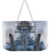 Aft Turret 3 Uss Iowa Battleship Photoart 01 Weekender Tote Bag