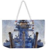Aft Turret 3 Uss Iowa Battleship Photoart 02 Weekender Tote Bag