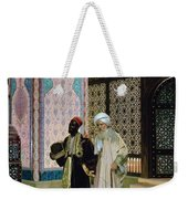 After Prayers At The Mosque Weekender Tote Bag by Rudolphe Ernst