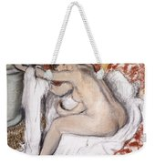 After The Bath Woman Drying Herself Weekender Tote Bag