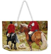After The Hunt Weekender Tote Bag by Diane Kraudelt
