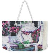 Afternoon At Emmaline's Front Porch Weekender Tote Bag
