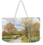Afternoon In The Auvergne Countryside In Central France Weekender Tote Bag