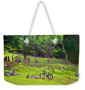 Afternoon In The Park With Friends Weekender Tote Bag