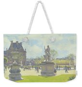 Afternoon In The Tuileries, Paris Oil On Canvas Weekender Tote Bag