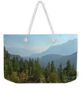 Afternoon Smoke At The Tantalus Mountains Weekender Tote Bag