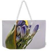 Agapanthus Blue Weekender Tote Bag