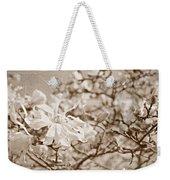 Antique Magnolia Bloom Weekender Tote Bag