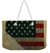 Aged Topographic Map Of Nevada Weekender Tote Bag