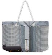 Agricultural Grain Silos Exterior Railway Wagon Weekender Tote Bag