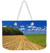 Agricultural Landscape - Young Corn Field Weekender Tote Bag