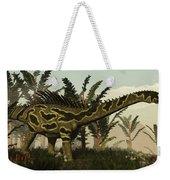 Agustinia Dinosaur Walking Amongst Weekender Tote Bag