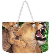 Ah Being A Mother Is Wonderful African Lions Wildlife Rescue Weekender Tote Bag