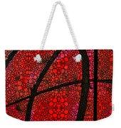 Ah - Red Stone Rock'd Art By Sharon Cummings Weekender Tote Bag