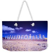 Ahu Tongariki Infrared Weekender Tote Bag