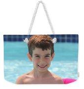 Aidan At The Pool Weekender Tote Bag