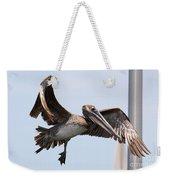 Airborne Brown Pelican Weekender Tote Bag
