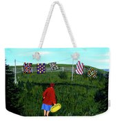 Airing Grandmother's Quilts Weekender Tote Bag