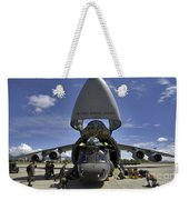 Airmen And Soldiers Load A Ch-47 Weekender Tote Bag