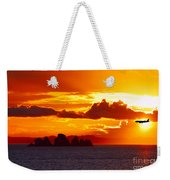 Airplane Over An Island In Newfoundland Weekender Tote Bag