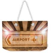 Airport Directions Weekender Tote Bag