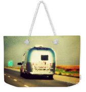 Airstream Rolling Down The Highway Weekender Tote Bag