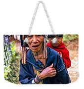 Akha Tribe II Paint Filter Weekender Tote Bag
