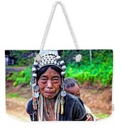 Akha Tribe Paint Filter Weekender Tote Bag