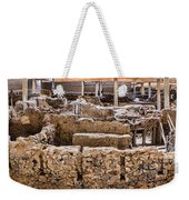 Akrotiri Archaeological Site In Santorini Weekender Tote Bag