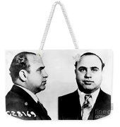 Al Capone Mug Shot Weekender Tote Bag by Edward Fielding
