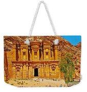 Al-dayr Or The Monastery In Petra-jordan  Weekender Tote Bag