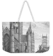 Alarming Morning In Ghent. The Left Part Of The Triptych - The Age Of Cathedrals Weekender Tote Bag