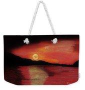 Alaska Sunset Bay Weekender Tote Bag