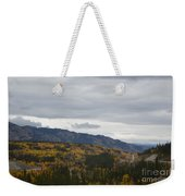 Alaska Highway At Lewes River Bridge  Weekender Tote Bag
