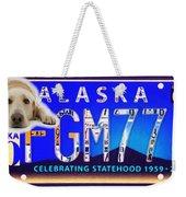 Alaska License Plate Weekender Tote Bag