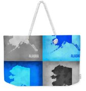 Alaska Map Art Weekender Tote Bag