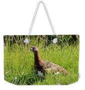 Alaska State Bird Willow Ptarmigan Weekender Tote Bag