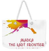 Alaska State Map Collection 2 Weekender Tote Bag