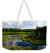Alaskan Backyard Weekender Tote Bag