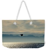 Alaskan Eagle At Sunset Weekender Tote Bag
