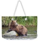 Alaskan Grizzly Weekender Tote Bag