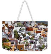 alba a Santorini Weekender Tote Bag by Guido Borelli