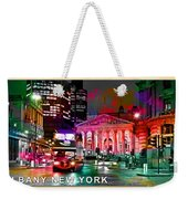 Albany New York Skyline Painting Weekender Tote Bag